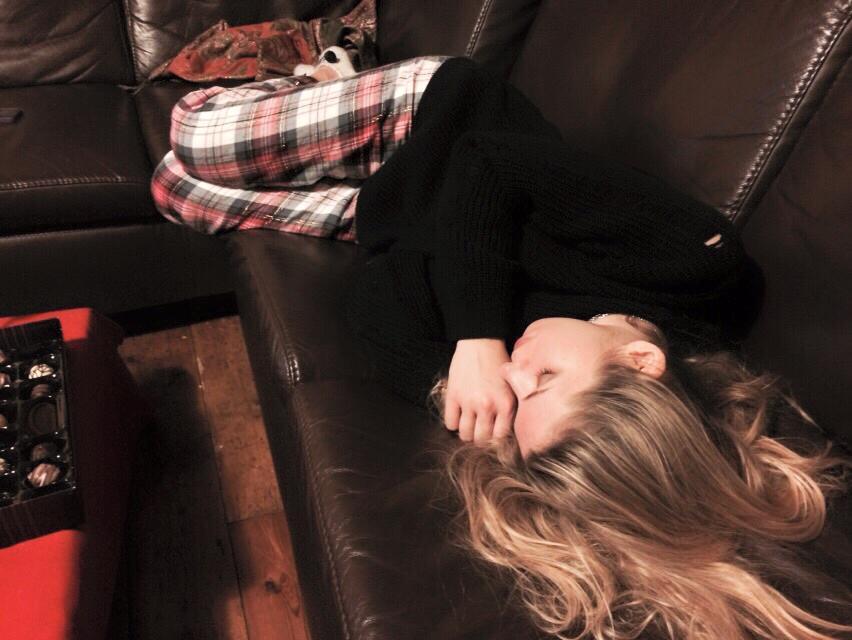 Lindsey having a sleep